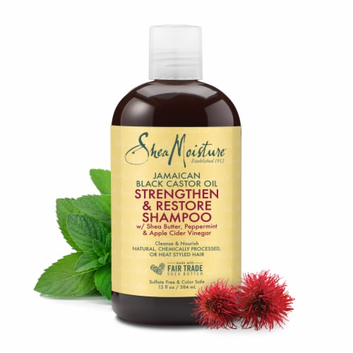 Shea Moisture® Strengthen and Restore Jamaican Black Castor Oil Shampoo Perspective: right