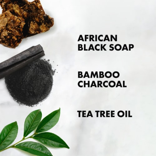 Shea Moisture Deep Cleansing African Black Soap Bamboo Charcoal Shampoo Sulfate Free Perspective: right