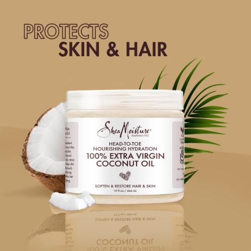 Shea Moisture® Head-To-Toe 100% Extra Virgin Pure Coconut Oil Nourishing Hydration Perspective: right