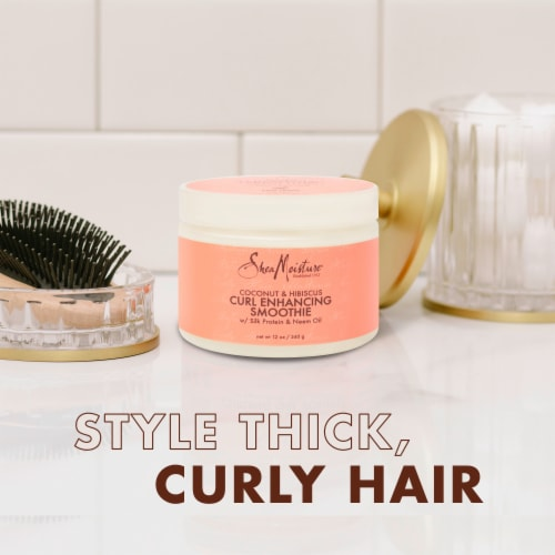 Shea Moisture® Sulfate-Free Coconut & Hibiscus Smoothie Curl Enhancing Cream for Curly Hair Perspective: right