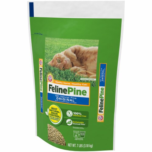 Feline Pine Original Non-Clumping Cat Litter Perspective: right