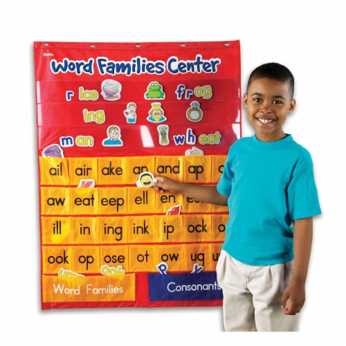 Learning Resources® Word Families & Rhyming Center Pocket Chart Perspective: right