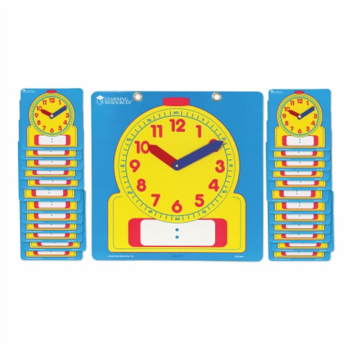 Learning Resources® Write & Wipe Clocks Classroom Set Perspective: right