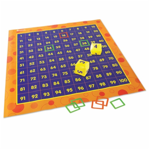 Learning Resources® Hip Hoppin' Hundred Mat Perspective: right