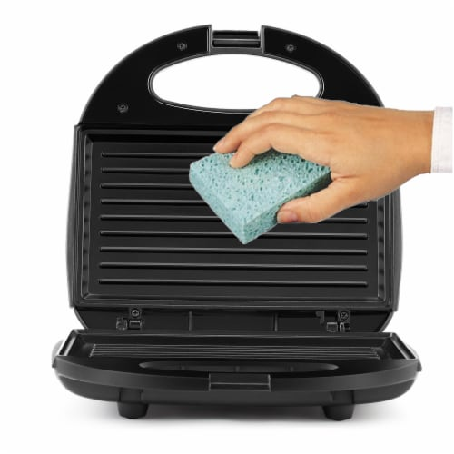 Continental 2-Serve Indoor Contact Grill and Sandwich Maker, Black Perspective: right
