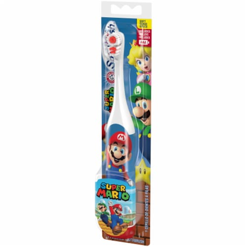 Arm & Hammer Kid's Spinbrush Super Mario Battery-Powered Toothbrush Perspective: right