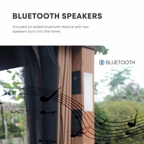 Kroger Kumo Luxuriously 10 X 12 Garden Gazebo Soft Top With Led Light Bluetooth Speaker 1 Unit
