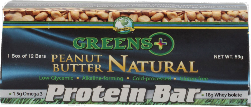 Greens Plus Peanut Butter Protein Bar 12 Count Perspective: right