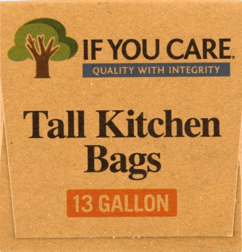 If You Care 13 Gallon Certified 97% Recycled Tall Kitchen Trash Bags Perspective: right