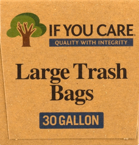 If You Care 30 Gallon Certified 97% Recycled Large Trash Bags Perspective: right