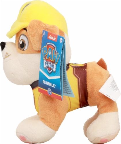 Paw Patrol Rubble Plush Dog Perspective: right