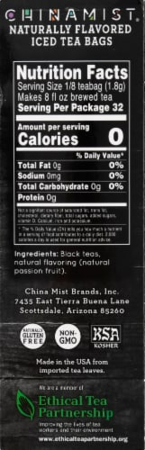 China Mist Primo Passion Naturally Flavored Iced Black Tea Bags Perspective: right