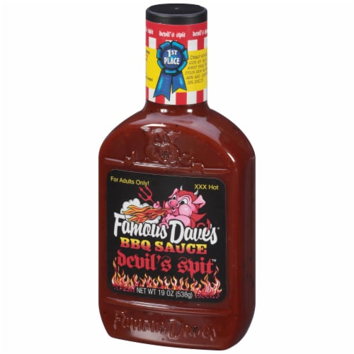 Famous Dave's Devil's Spit BBQ Sauce Perspective: right