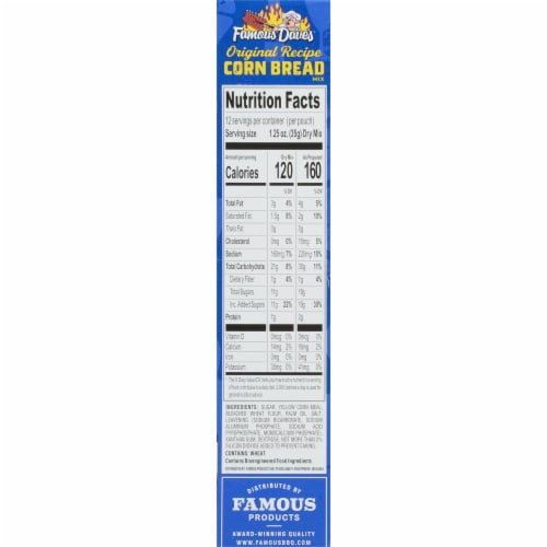 Famous Dave's Cornbread Mix Perspective: right