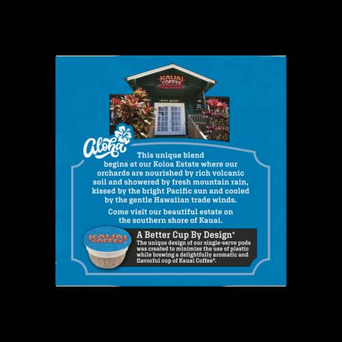Kauai Coffee Na Pali Coast Dark Roast Ground Coffee Single-Serve Pods Perspective: right