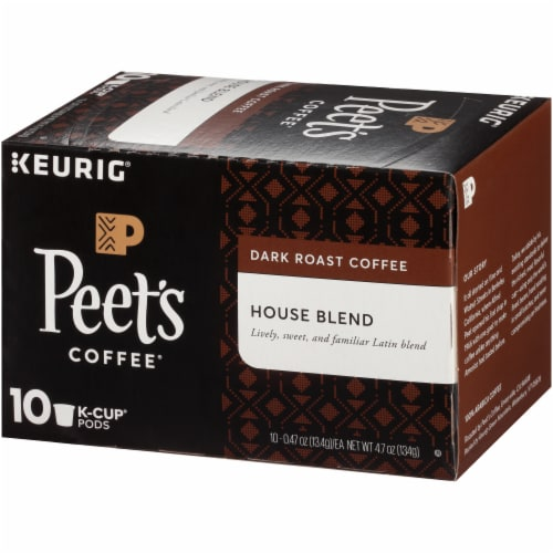 Peet's Coffee House Blend Dark Roast Coffee K-Cup Pods Perspective: right