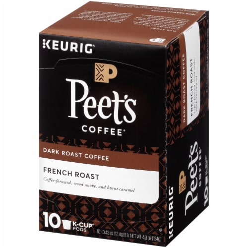 Peet's Coffee French Roast Dark Roast Coffee K-Cup Pods Perspective: right