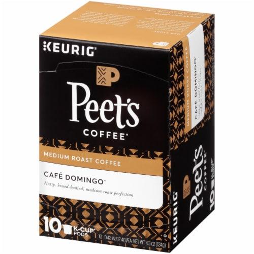 Peet's Coffee Cafe Domingo Medium Roast Coffee K-Cup Pods Perspective: right