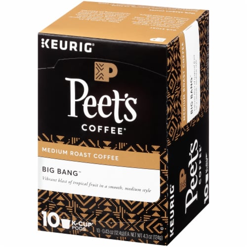 Peet's Coffee Big Bang Medium Roast Coffee K-Cup Pods 10 Count Perspective: right