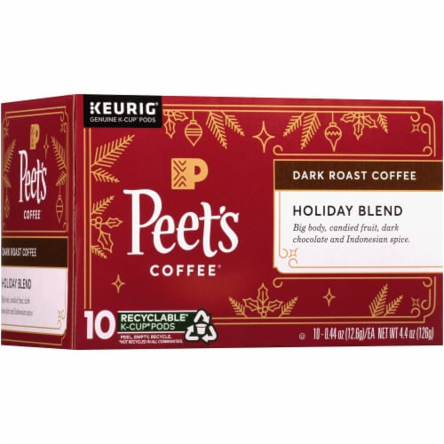 Peet's Coffee Holiday Blend Dark Roast Coffee K-Cup Pods Perspective: right