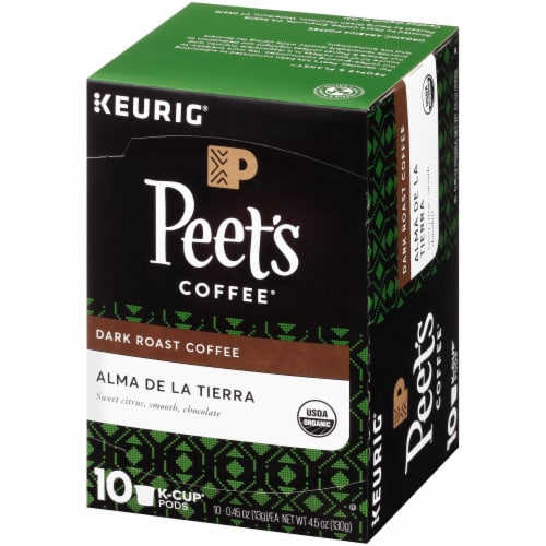 Peet's Coffee Organic Alma De La Tierra Dark Roast Coffee K-Cup Pods Perspective: right