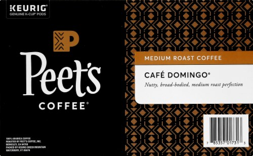 Peet's Coffee Cafe Domingo Medium Roast Coffee K-Cup Pods 54 Count Perspective: right