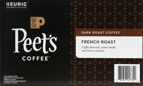 Peet's Coffee French Dark Roast Coffee K-Cup Pods Perspective: right