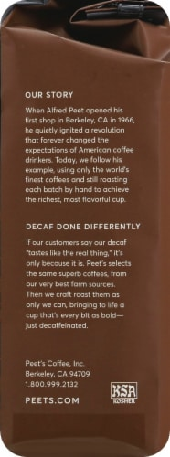 Peet's Coffee Decaf Major Dickason's Blend Dark Roast Ground Coffee Perspective: right