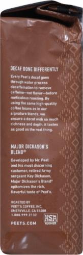 Peet's Coffee Decaf Major Dickason's Blend Dark Roast Ground Coffee Perspective: right