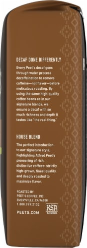 Peet's Coffee Decaf House Blend Dark Roast Ground Coffee Perspective: right