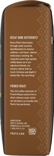 Peet's Coffee Decaf French Roast Dark Roast Ground Coffee Perspective: right
