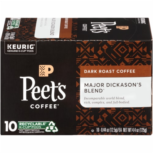 Peet's Coffee Major Dickason's Blend Dark Roast K-Cup Pods Perspective: right