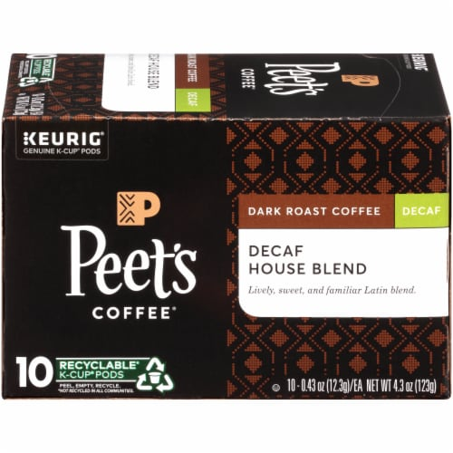 Peet's Coffee House Blend Decaf Dark Roast K-Cup Pods Perspective: right