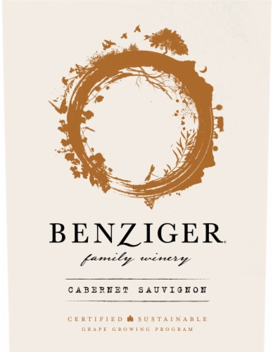 Benziger Cabernet Sauvignon Red Wine Perspective: right