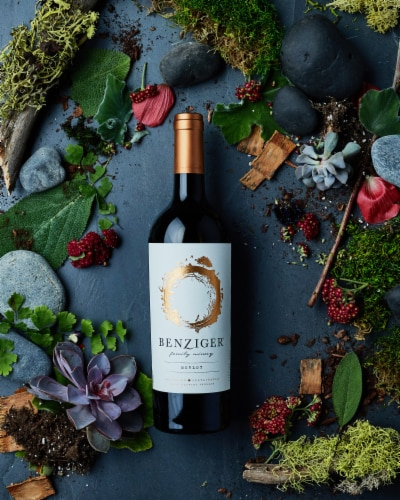 Benziger Merlot Red Wine Perspective: right
