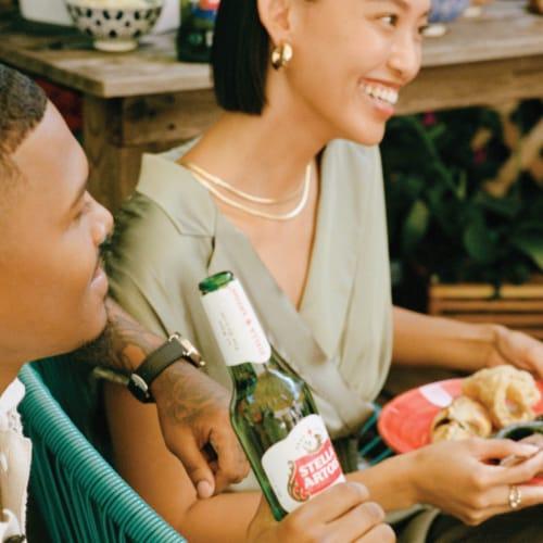 Stella Artois Belgium Lager Perspective: right