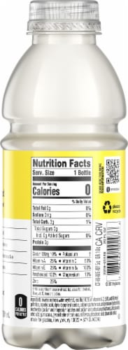 Vitaminwater Zero Sugar Squeezed Lemonade Nutrient Enhanced Water Beverage Perspective: right
