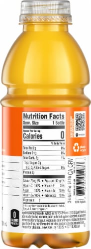 Vitaminwater Zero Sugar Rise Orange Flavored Nutrient Enhanced Water Beverage Perspective: right