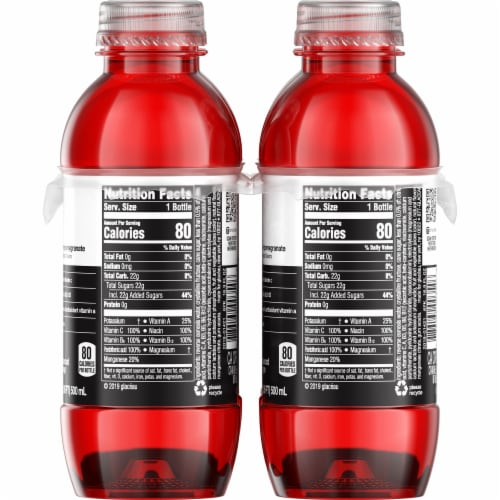 Vitaminwater XXX Acai-Blueberry-Pomegranate Flavored Water Perspective: right