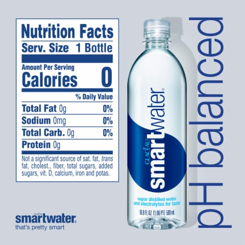 Smartwater Vapor Distilled Water Perspective: right