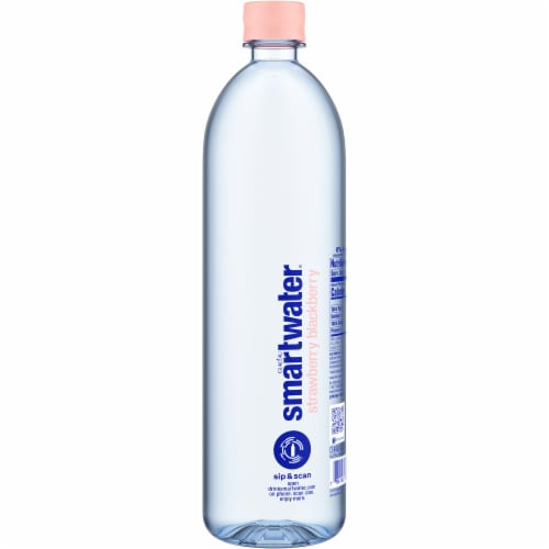 Smartwater Strawberry Blackberry Vapor Distilled Water Perspective: right
