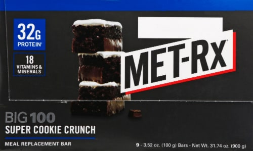 Met-Rx Big 100 Super Cookie Crunch Bars Perspective: right