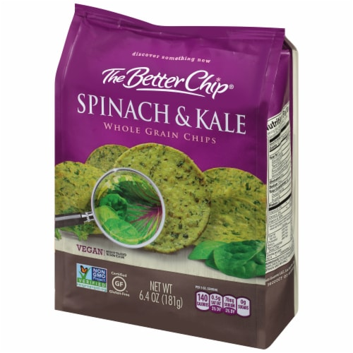 The Better Chip Spinach & Kale Whole Grain Chips Perspective: right