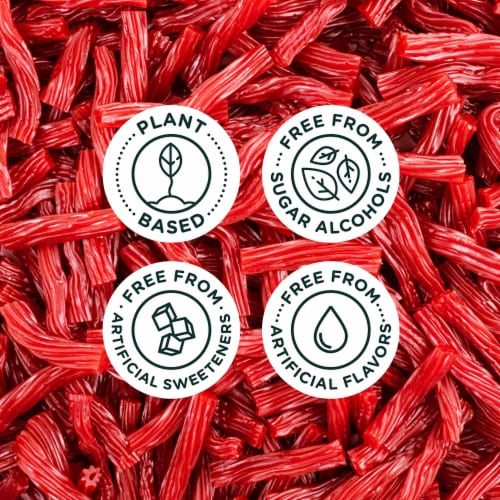 Smart Sweets Red Twists, New Twist on Licorice, Low Sugar Gummy Candy, 1.8oz. (Pack of 4) Perspective: right