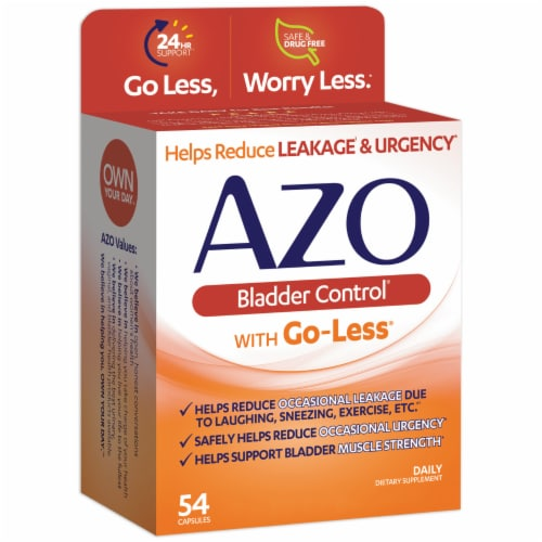 Azo Bladder Control with Go-Less Dietary Supplement Capsules Perspective: right