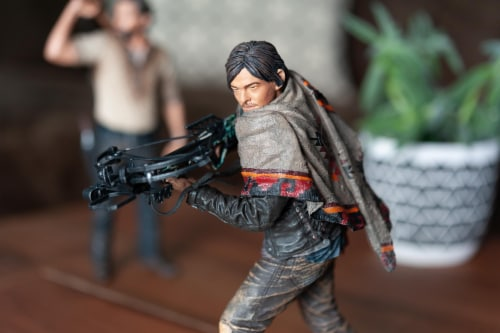 The Walking Dead Daryl Dixon Deluxe Poseable Figure | Measures 10 Inches Tall Perspective: right