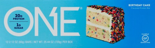 Oh Yeah! ONE Birthday Cake Protein Bars Perspective: right