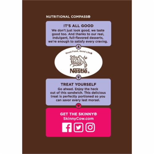Skinny Cow The Dynamic Duo Vanilla & Chocolate Low Fat Ice Cream Sandwiches 6 Count Perspective: right