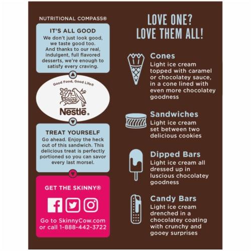 Skinny Cow No Sugar Added Vanilla Gone Wild Ice Cream Sandwiches Perspective: right