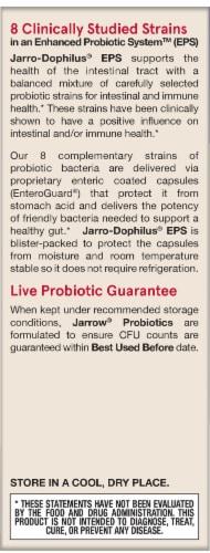 Jarrow Formulas Jarro-Dophilus EPS Digestive Probiotic Veggie Caps 60 Count Perspective: right